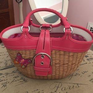 Coach straw handbag